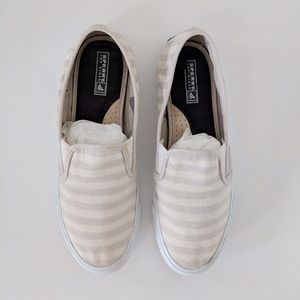 Sperry Striped Slip-On Sneakers / 7.5